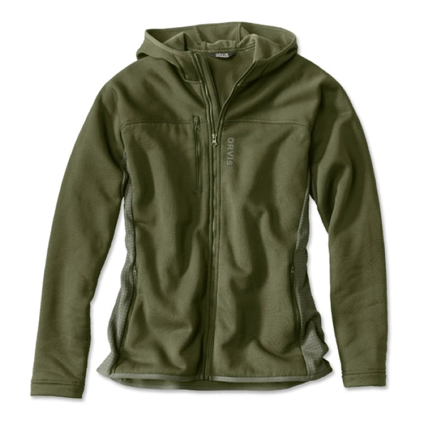 Orvis Pro Hooded Fleece Jacket - Moss