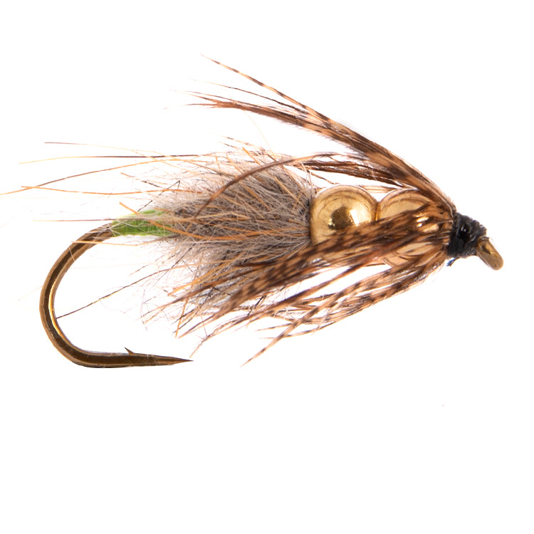 Double Bead Caddis Nymph Flies