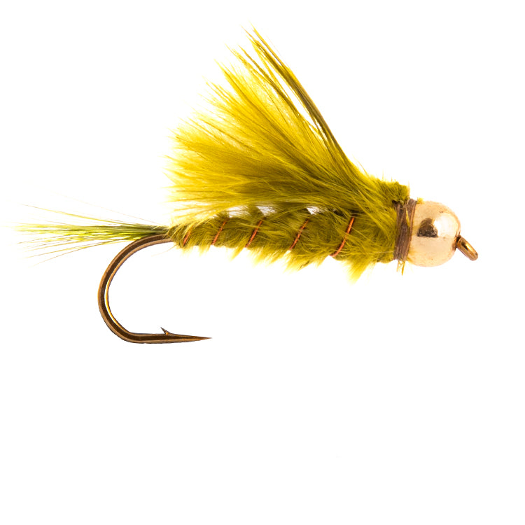 Marabou Damsel Green Goldbead Flies