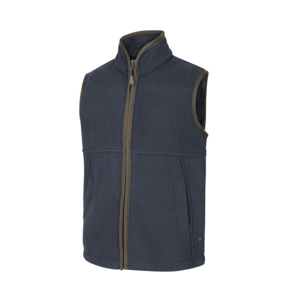 Hoggs of Fife Junior Woodhall Fleece Gilet - Navy