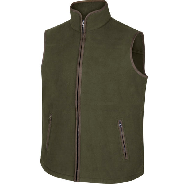 Hoggs of Fife Woodhall Fleece Gilet - Green
