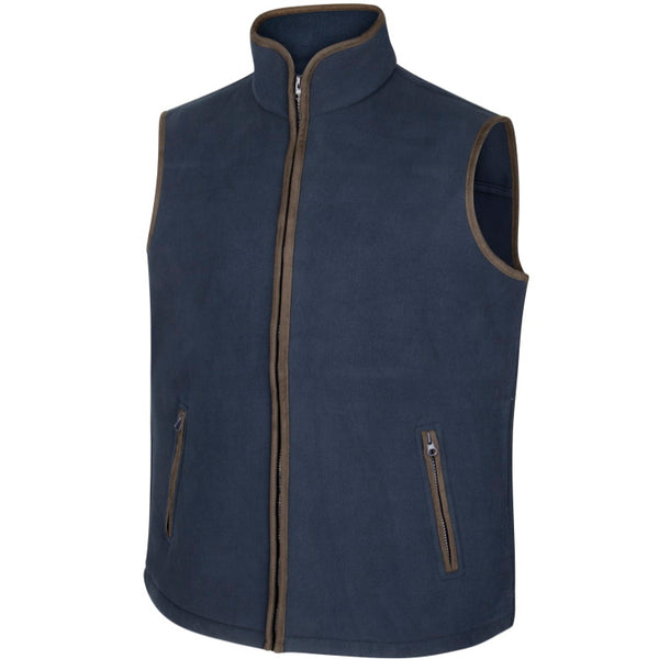 Hoggs of Fife Woodhall Fleece Gilet - Navy