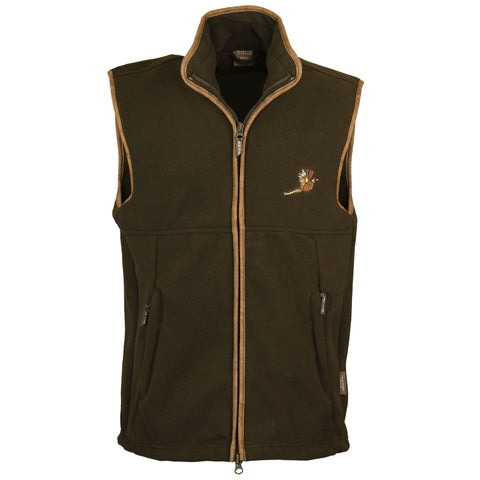 Jack Pyke Countryman Fleece Gilet - Dark Olive with Pheasant