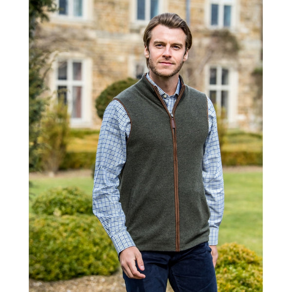 Schoffel Reversible Merino/Cashmere Gilet - Loden