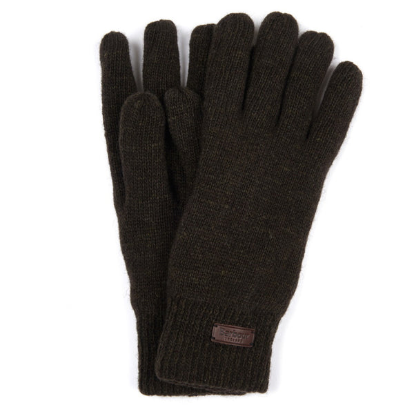Barbour Carlton Micro Fleece Gloves - Dark Green
