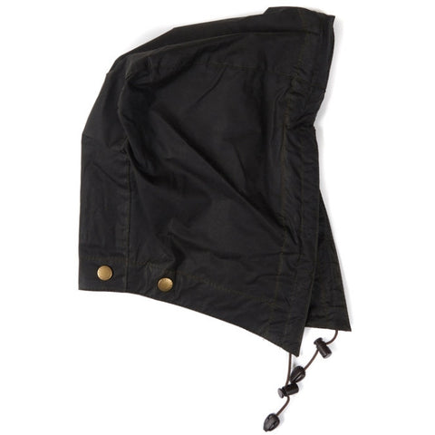 Barbour Lightweight 4oz Wax Hood - Dark Olive