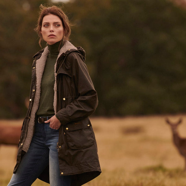 Barbour Ladies Birches Wax Jacket
