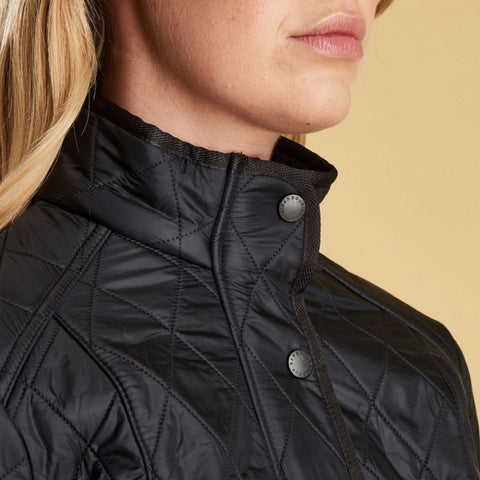 Barbour Ladies Cavalry Polarquilt Jacket - Black