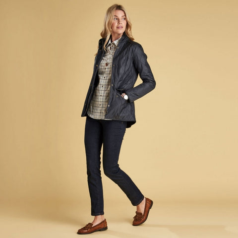 Barbour Ladies Cavalry Polarquilt Jacket - Navy