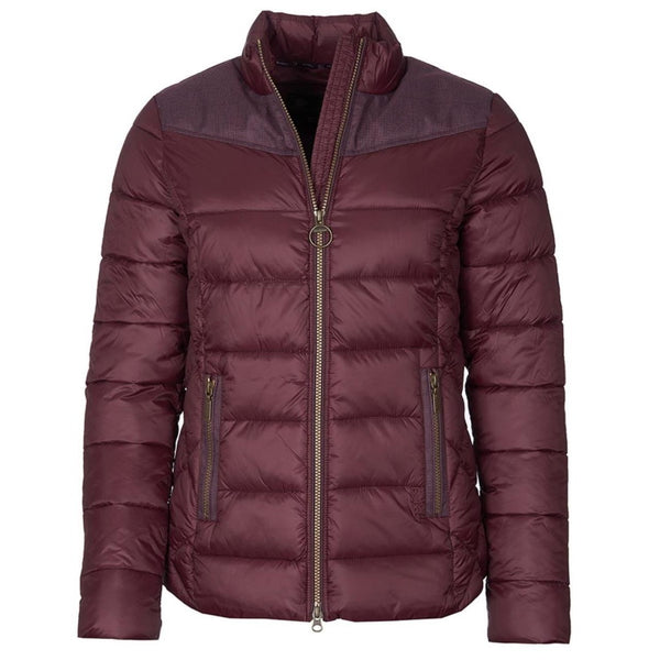Barbour Ladies Ingham Quilt Jacket - Winter Blackberry/Natural