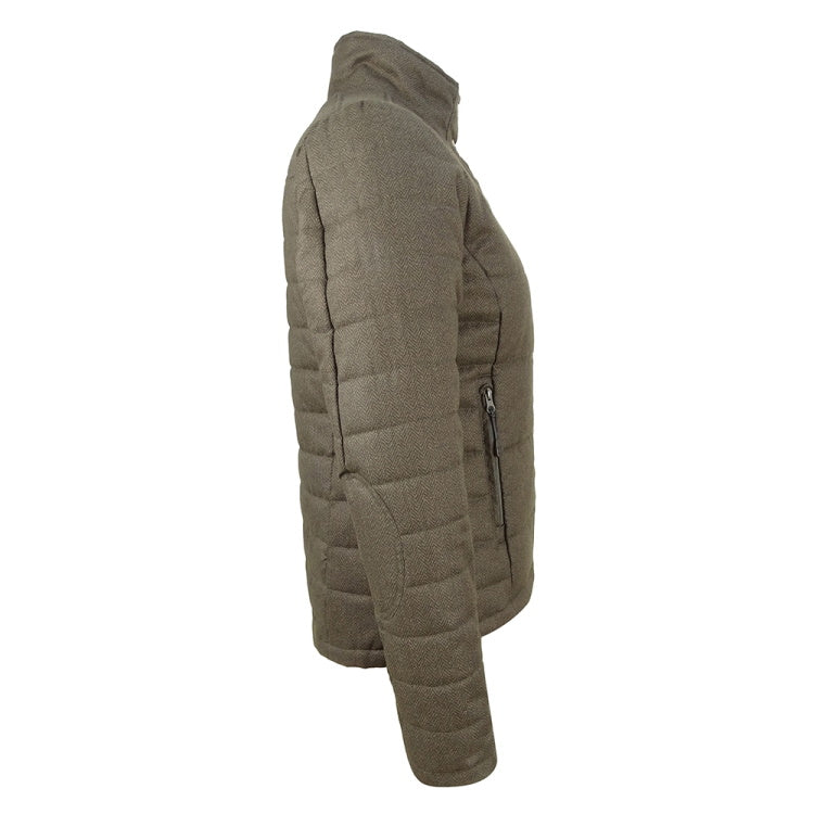Hoggs of Fife Ladies Elgin Quilted Herringbone Jacket