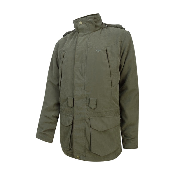 Hoggs of Fife Glenmore Lightweight Shooting Jacket - Dark Olive