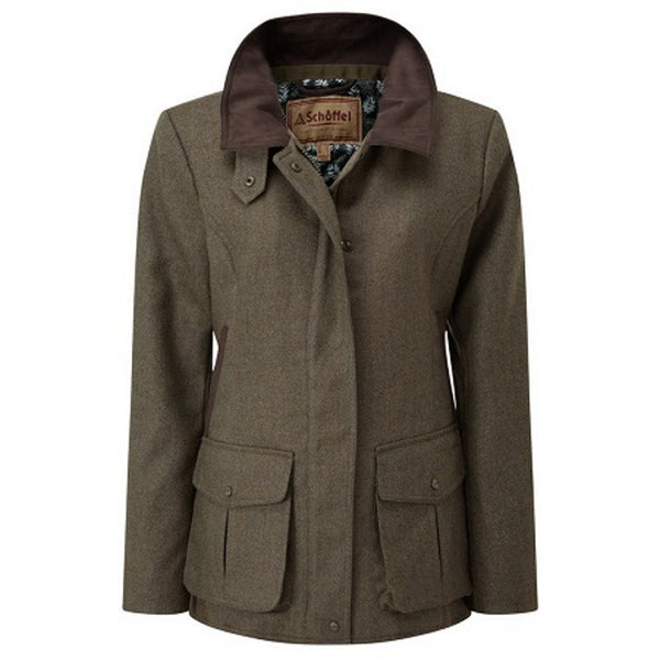 Schoffel Ladies Lilymere Jacket - Loden Green Herringbone Tweed
