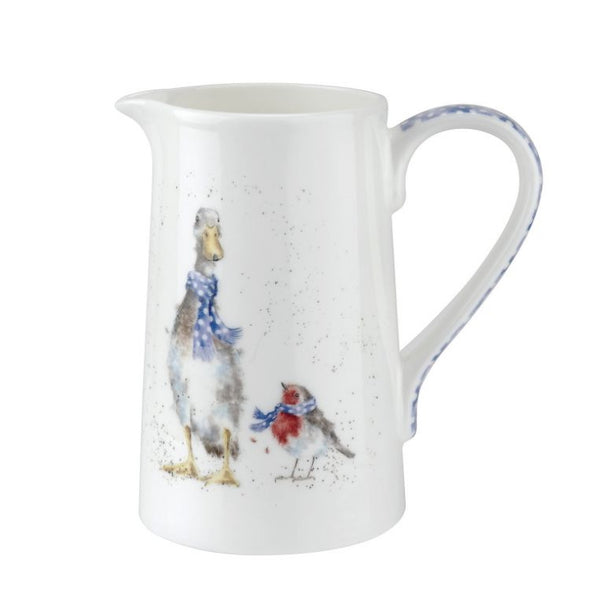 Royal Worcester Wrendale Jug - Christmas Duck and Robin