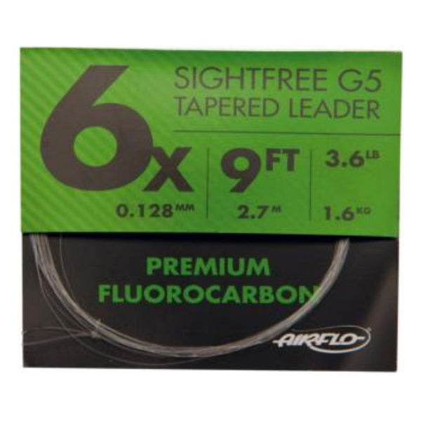 Airflo Sightfree G5 Tapered Flurocarbon Leader 9FT