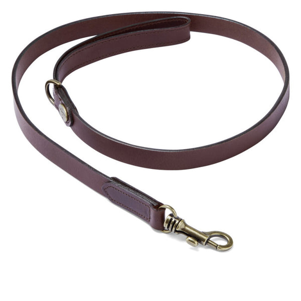 Le Chameau Leather Dog Lead - Dark Brown