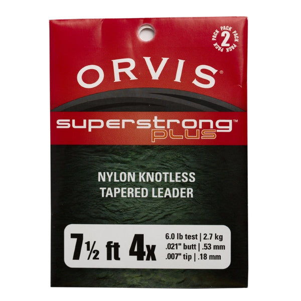 Orvis Superstrong Plus Knotless Leaders 2 Pack - 7.5ft