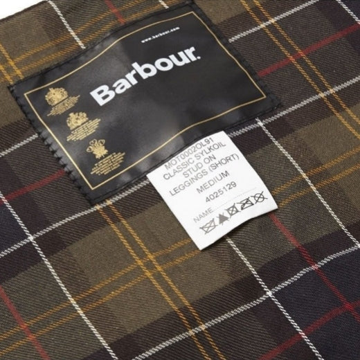 Barbour Classic Sylkoil Stud-On Short Lined Leggings