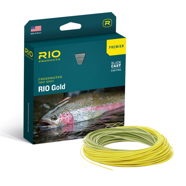 Rio Gold Premier Floating Fly Line - Moss/Gold