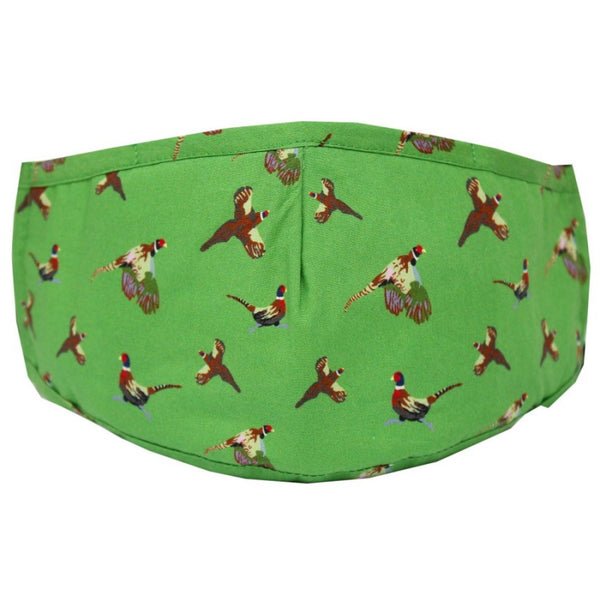 John Norris Country Face Mask - Green Pheasant
