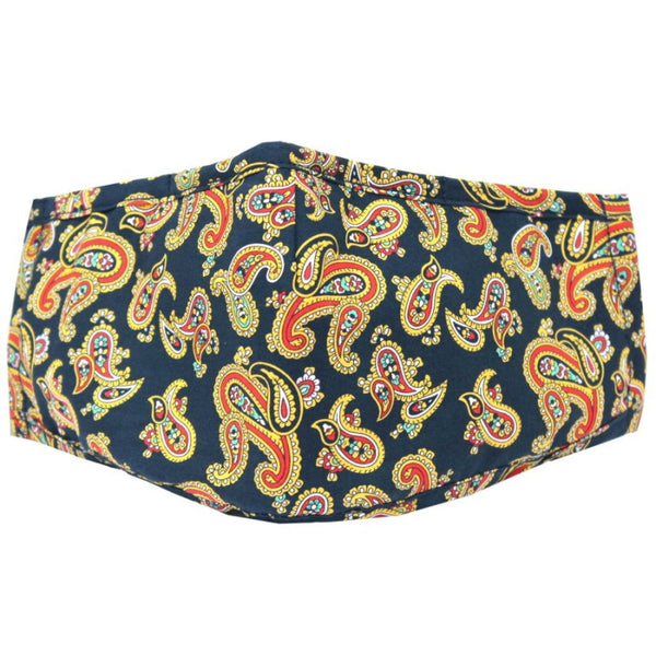 John Norris Country Face Mask - Navy Paisley