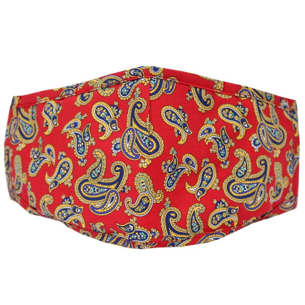 John Norris Country Face Mask - Red Paisley