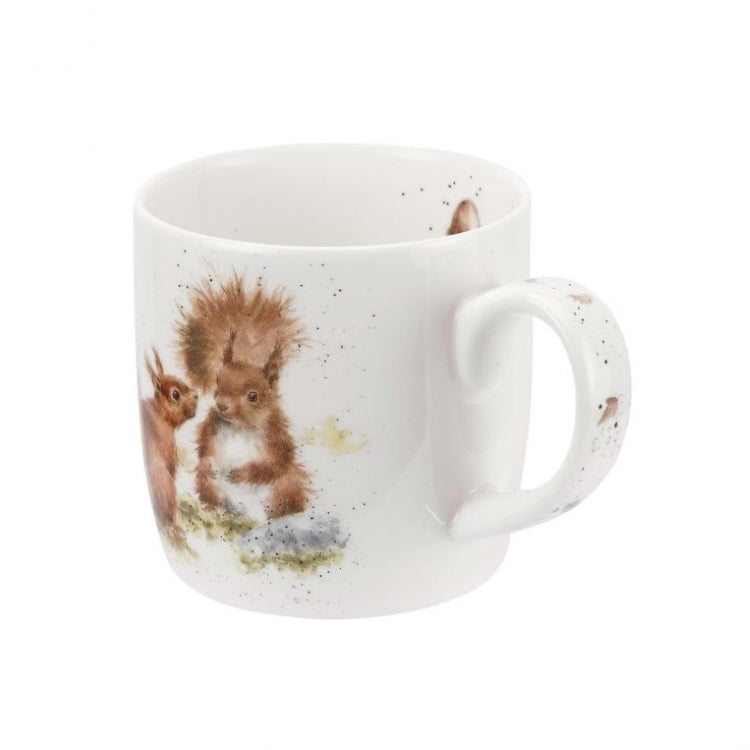 Royal Worcester Wrendale Fine Bone China Mug - Between Friends (Squirrels)