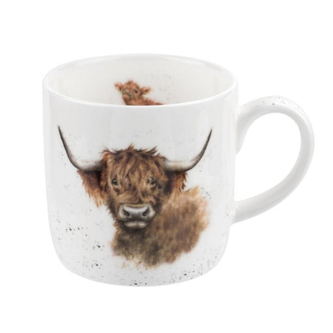 Royal Worcester Wrendale Fine Bone China Mug - Highland Cow