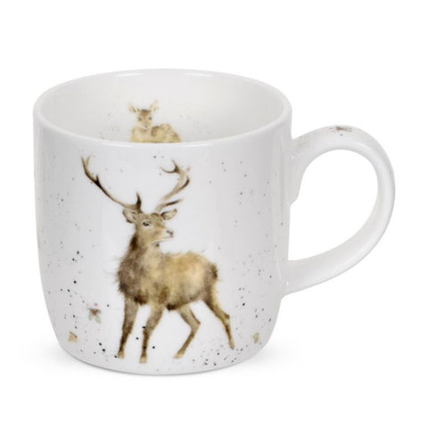 Royal Worcester Wrendale Fine Bone China Mug - Wild at Heart Stag