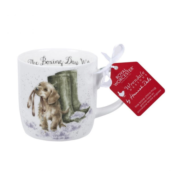 Royal Worcester Wrendale Fine Bone China Christmas Mug - Boxing Day Walk (Dog)