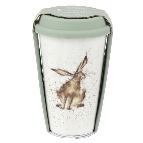 Royal Worcester Wrendale Travel Mug - Good Hare Day