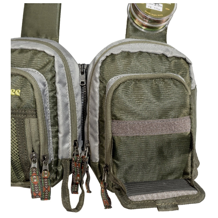 Snowbee Ultralite Chest Pack - Front fly-patch pocket