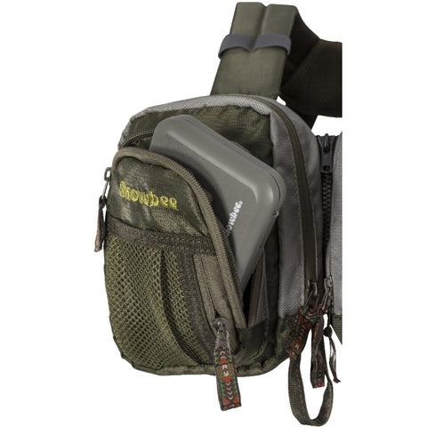 Snowbee Ultralite Chest Pack - 4 main fly box pockets