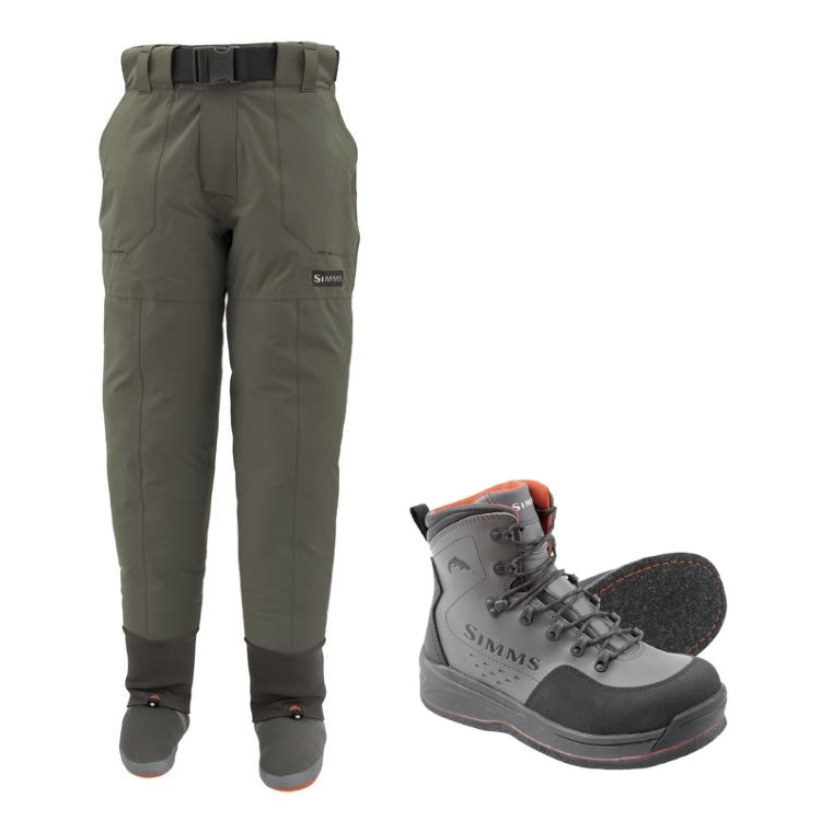 Simms Freestone Pants and Freestone Felt Sole Wading Boots