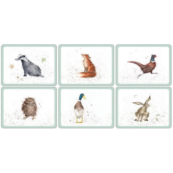 Pimpernel Wrendale Placemats - Assorted Set of 6