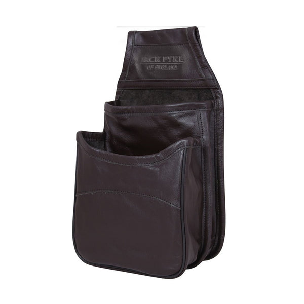 Jack Pyke Leather Cartridge Pouch - Dark Brown