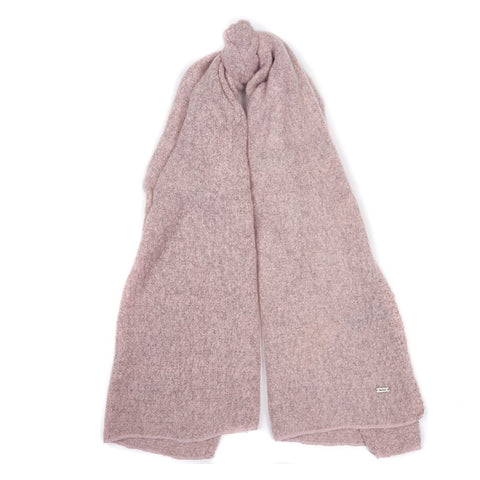 Barbour Ladies Plain Boucle Scarf - Pink