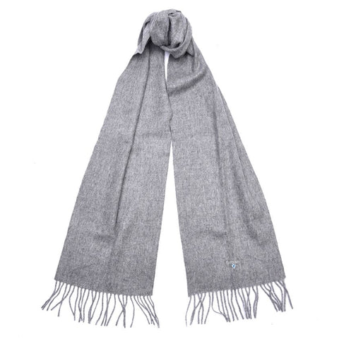 Barbour Plain Lambswool Scarf - Light Grey Marl