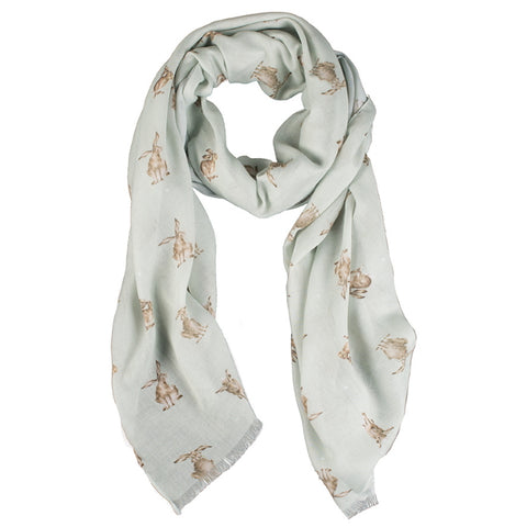 Wrendale Designs Scarf - Leaping Hare