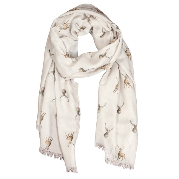 Wrendale Designs Scarf - Wild at Heart Stag