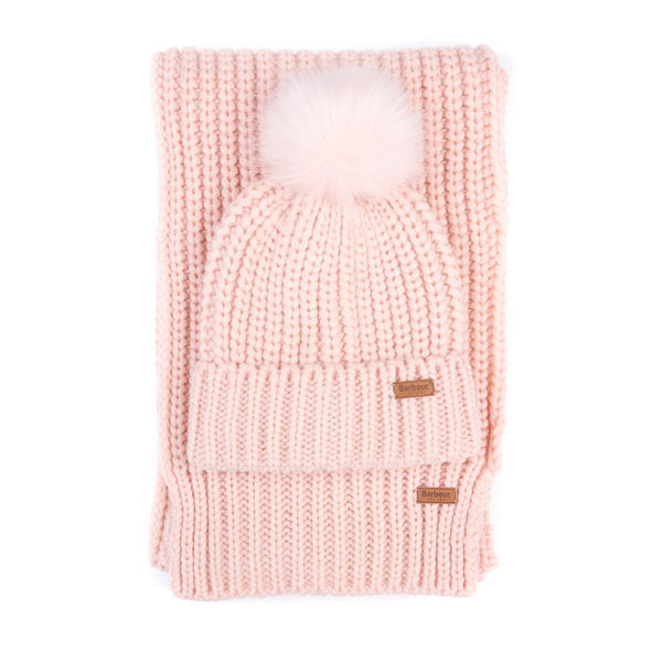 Barbour Ladies Saltburn Beanie and Scarf Set