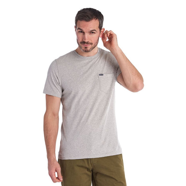 Barbour Logo Pocket Tee Shirt - Grey Marl