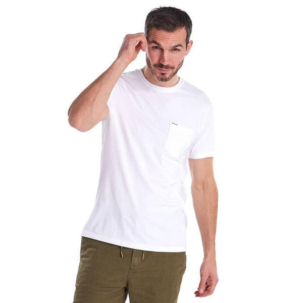 Barbour Logo Pocket Tee Shirt - White