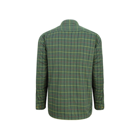Hoggs of Fife Beech Micro Fleece Lined Shirt - Green Check