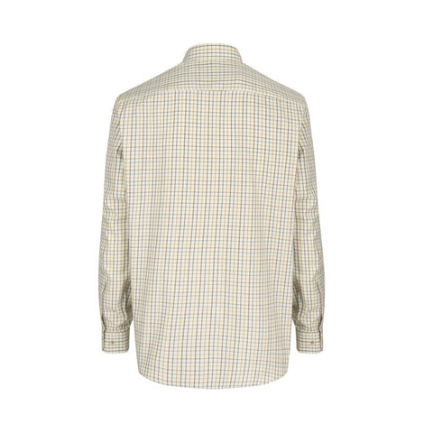 Hoggs of Fife Inverness Cotton Tattersall Shirt - Brown/Gold/Navy