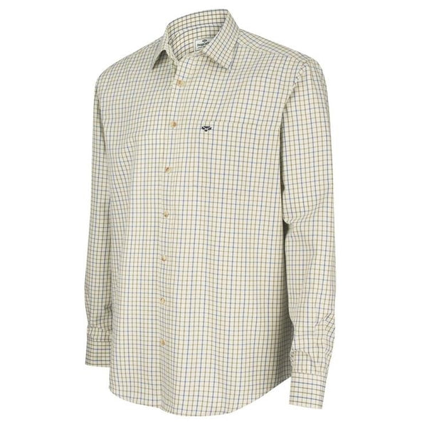 Copy of Hoggs of Fife Inverness Cotton Tattersall Shirt -  Navy/Olive