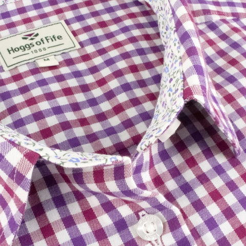 Hoggs of Fife Ladies Becky II Shirt - Violet/Cerise