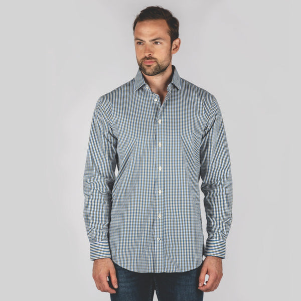 Schoffel Hebden Tailored Shirt - Sea Blue/Olive