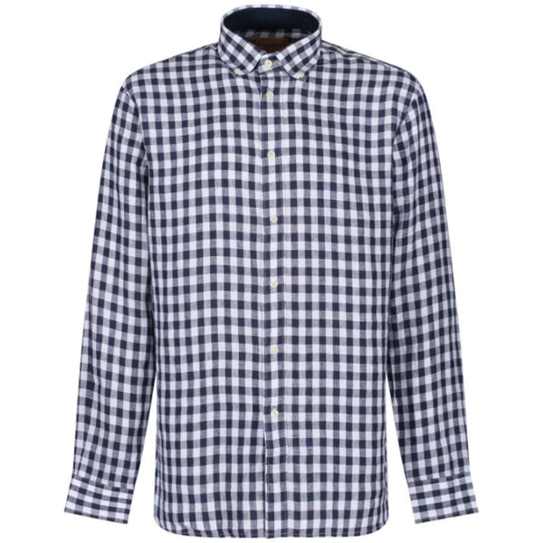 Schoffel Sandbanks Tailored Shirt - Navy Check