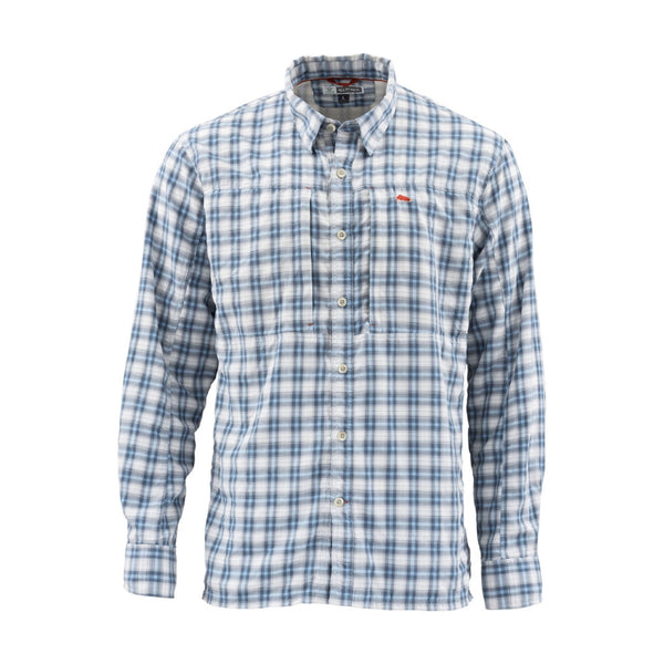 Simms Bugstopper LS Shirt - Faded Denim Plaid